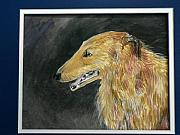 Prairie Dog Ceramics - Borzoi portrait by Phillip Dimor