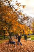 Fall In New England Metal Prints - Boston Common Metal Print by Joann Vitali