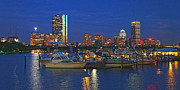 Buildings At Sunset Prints - Boston Nights 3 Print by Joann Vitali