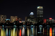 Chales Framed Prints - Boston Skyline Framed Print by Girardi Santiago