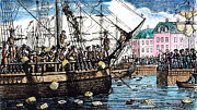 Rebellion Art - Boston Tea Party, 1773 by Granger