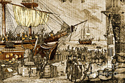 Controlled Prints - Boston Tea Party, 1773 Print by Photo Researchers