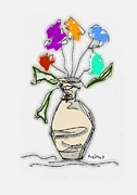 Sympathy Metal Prints - Bouquet Metal Print by Mimo Krouzian