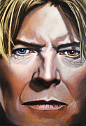David Bowie Portrait Paintings - Bowie by Kirsten Reifeiss