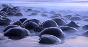 Haystack Rocks Prints - Bowling Ball Beach 3 Print by Bob Christopher