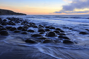 Haystack Rocks Prints - Bowling Ball Beach Print by Bob Christopher