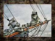 Bowsprit Of An Old Greement Print by Karo Evans