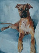 Boxer Painting Framed Prints - Boxer Framed Print by Robin Wellner