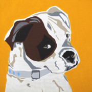 Pet Portraits Digital Art Prints - Boxer  Print by Slade Roberts