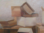 Boxes Paintings - Boxes by Patty Weeks