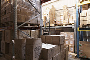 Packages Prints - Boxes Stored in a Warehouse Print by Magomed Magomedagaev