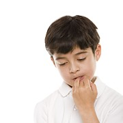 Biting Tapestries Textiles - Boy Biting His Nails by