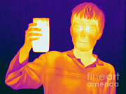 Human Being Posters - Boy With A Hot Glass Of Water Poster by Ted Kinsman