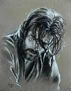 Brad Pitt Print by Anastasis  Anastasi