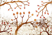 Japanese Paintings - Branches by Frank Tschakert