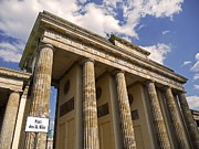 Peace Symbol Prints - Brandenburg Gate - Berlin Print by Juergen Weiss