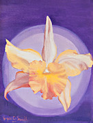 Visionary Art Painting Prints - Brassolaeliocattleya Print by Joyce Small