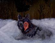 Brave Wolf Print by Angela Pari  Dominic Chumroo
