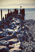 Mountain Lake Prints - Breakwater Print by Joana Kruse