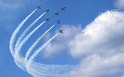 Airplane Prints - Breitling air display team L-39 Albatross Print by Nir Ben-Yosef