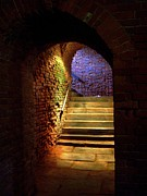 Basement Art Posters - Brick Tunnel Poster by Sarah Holenstein