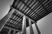 Below Framed Prints - Bridge Framed Print by Eric Gendron