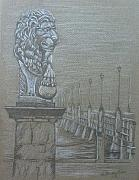 Architecture Drawings - Bridge of Lions by Dan Hausel