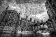 Mono Color Posters - Bridge Of Sighs - Cambridge Poster by Yhun Suarez