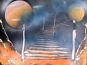 Space Paintings - Bridge to Space by My Imagination Gallery