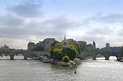 Ile De La Cite Art - Bridges on river Seine. Paris. France by Bernard Jaubert