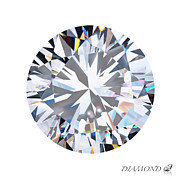 Bright Jewelry Metal Prints - Brilliant Diamond Metal Print by Setsiri Silapasuwanchai