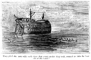 1770s Prints - BRITISH PRISON SHIP, 1770s Print by Granger