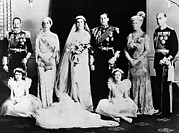 British Royalty Metal Prints - British Royal Family. Seated, From Left Metal Print by Everett