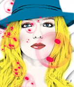 Fun Mixed Media Prints - Britney Spears Print by Mark Ashkenazi