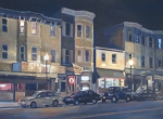 Boston Painting Metal Prints - Broadway Nocturne Metal Print by Deb Putnam