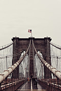 Business-travel Framed Prints - Brooklyn Bridge Framed Print by Benjamin Matthijs