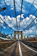 Nyc Photo Prints - Brooklyn Bridge Print by Mitch Cat