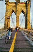 N.y. Art - Brooklyn bridge promenade by George Atsametakis