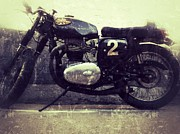Bsa Photos - BSA Motorbike by Jerry Cordeiro