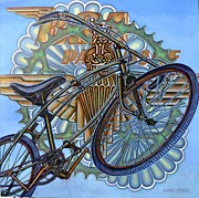 Vintage Bike Painting Originals - BSA Parabike by Mark Howard Jones