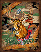 Retro Paintings - Bubba Deer by JQ Licensing