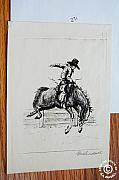 Saddle Mixed Media Posters - Bucking Bronco Poster by Smart Healthy Life