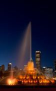 Illuminate Photo Prints - Buckingham Fountain Chicago Print by Steve Gadomski