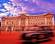 European City Prints - Buckingham Palace with Black Cab Print by Chris Smith