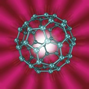 Molecular Structure Art - Buckminsterfullerene Molecule, Artwork by Laguna Design