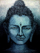Religious Art Mixed Media Prints - Buddha Print by A Vimla Dindoyal