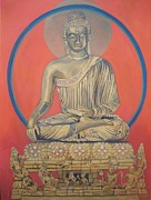 Kashmir Painting Originals - Buddha by D Marie LaMar