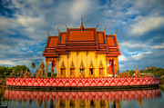 Exterior Digital Art Prints - Buddha Temple  Print by Adrian Evans