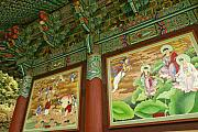 Mural Photos - Buddhist Murals by Michele Burgess