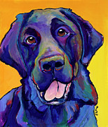 Pet Portrait Artist Posters - Buddy Poster by Pat Saunders-White